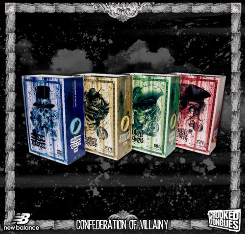 "Crooked Tongues x New Balance ""Confederation of Villany"" Boxes"